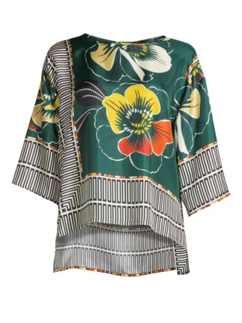 Printed High-Low Blouse 1