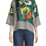 Printed High-Low Blouse2