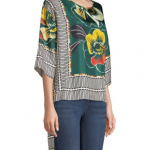 Printed High-Low Blouse3